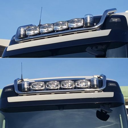 volvo fh v4 drop down hilite roof bar pic 1