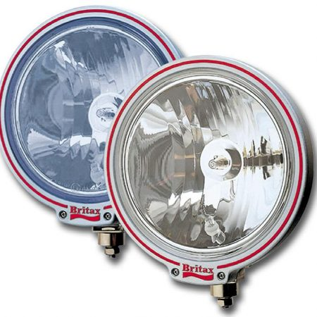 "Britax 9"" spotlight Blue glass 24v bulbs"