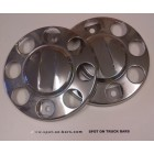 8 stud stainless steel nut rings - pair