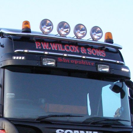 Scania Highline Visor Bar