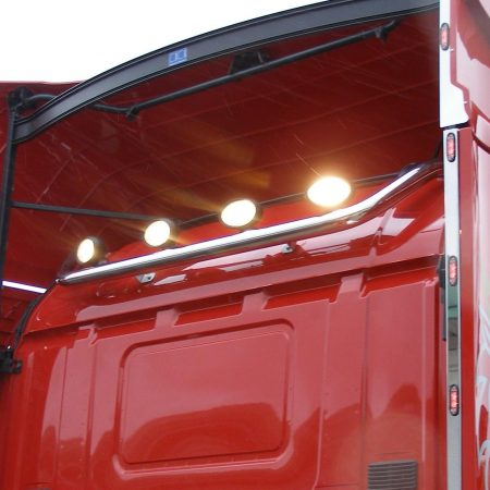 scania r cab rear work light bar