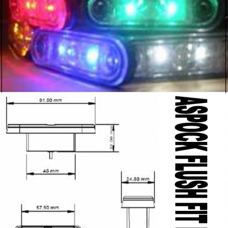 Aspock flush fit BLUE led