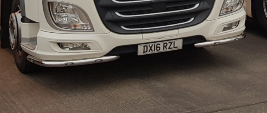 DAF XF Euro 6 under bumper bar - Spot On Truck Bars