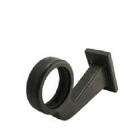 gylle short rubber arm bent end pic 1