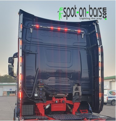 Scania Next Gen S series wind kit strips with 3 in 1 lights