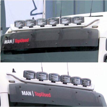 MAN TG Roof bar Visor mount