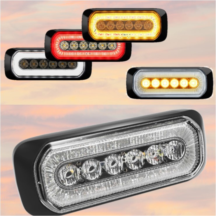 Sentinel Combination Led Warning Light And Red Marker