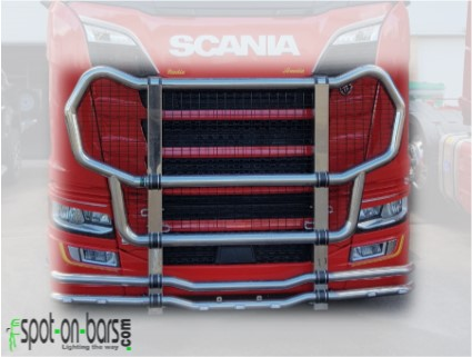 Scania Next Generation GRIFFIN II stainless steel bull bar