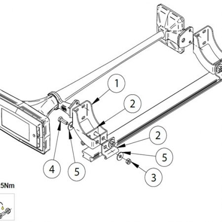 Air horn mounting brackets for Scania Next Gen