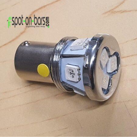 Amber led bulb - BA15s - P21W