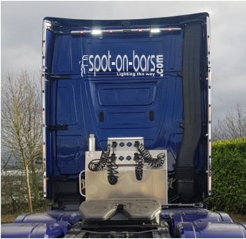 Mercedes Actros MP5 Giga Space wind kit strips with 3 in 1 lights