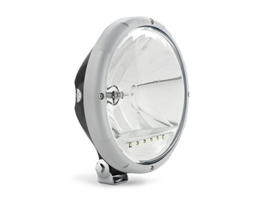 Hella Rallye 3003 spotlight with led position light - grey retaining ring 421