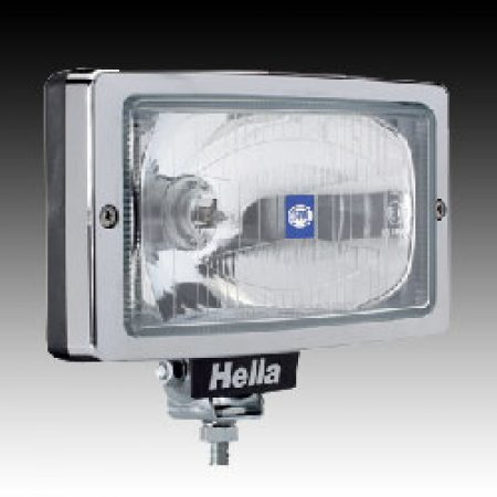Hella Jumbo 220 spotlight clear lense Chrome trim