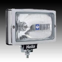 Hella Jumbo 220 spotlight clear lense Chrome trim