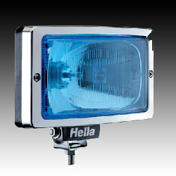 Hella Jumbo 220 spotlight Blue lense Chrome trim