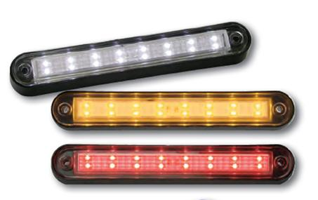 Peterson LED utility light - red with black bezel - M388R