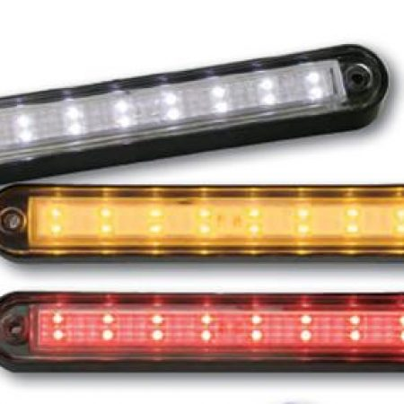 Peterson LED utility light - white with black bezel - M388C