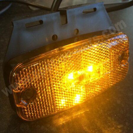 Multivolt LED Side marker and reflector with bracket - Proplast 120 021