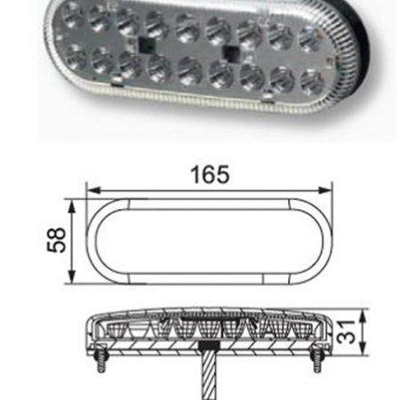 Hella Multi function tail light cluster - 357022 - Pair