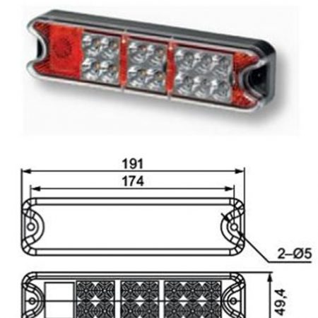 Hella Multi function tail light cluster - 357021 - Pair
