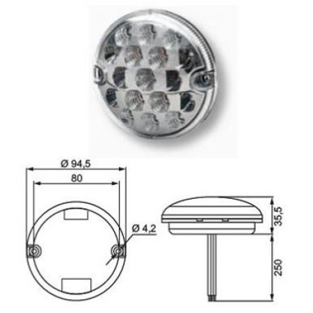 Hella Multi function tail light cluster - 357028 - Pair