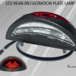 Proplast pro reg LED number plate light with tail light 027504 - PAIR