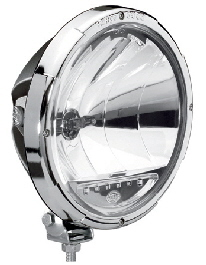 Hella Rallye 3003 spotlight with led position lights - chrome retaining ring 431
