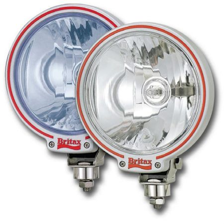 "Britax 7"" clear glass spotlight with 24v bulbs"